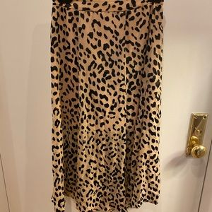 Alice & Olivia Leopard midi skirt